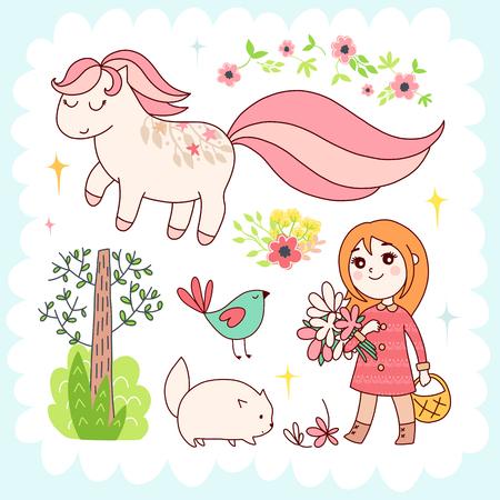 Doodles cute elements Stock Photo