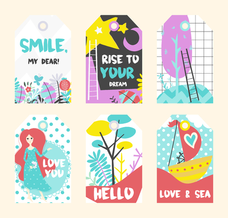 Naadloos de zomerpatroon. Vectorachtergrond met verschillende elementen. Ontwerp voor prints, shirts en posters. Stock Illustratie