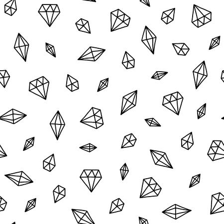 Motif scandinave sans soudure. Vecteur enfants fond avec différents cristaux. Conception de gravures, chemises et affiches. Vecteurs