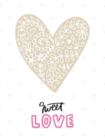 Sweet love lettering with heart.