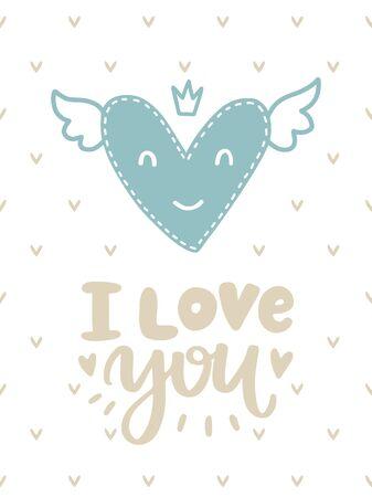 ベクトルスカンジナビアレタリングポスター。フレーズ付きのクリエイティブなタイポグラフィカード。ロマンチックなテキスト。 写真素材 - 93718721