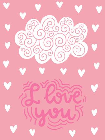 ベクトルスカンジナビアレタリングポスター。フレーズ付きのクリエイティブなタイポグラフィカード。ロマンチックなテキスト。 写真素材 - 93718948