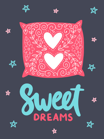 Vector poster with phrase and decor elements. Typography card, image with lettering. Color quote, cozy theme. Design for t-shirt and prints.