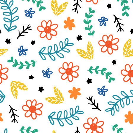 Seamless childish pattern. Vector kids background with hand drawn elements. Design for prints, shirts and posters. Stock fotó - 95312622