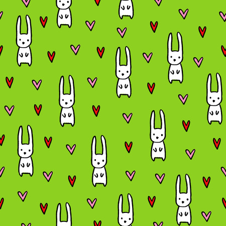 Seamless hand drawn summer pattern. Vector colorful background in kids theme. Design for prints, shirts and posters.