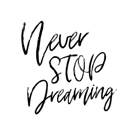 Vector hand drawn poster with phrase. Typography isolated card, image with lettering. Black quote on white background. Design for t-shirt and prints. Vectores
