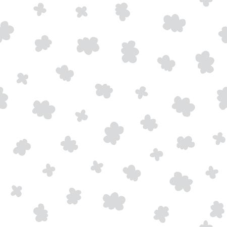 Nahtloses Naturmuster. Vektorkinderhintergrund mit verschiedenen Wolken. Design für Drucke, Shirts und Poster.