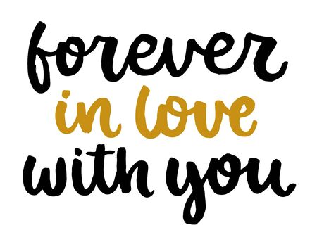 Valentines day poster. Vector hand drawn lettering. Creative typography card with phrase. Romantic text.