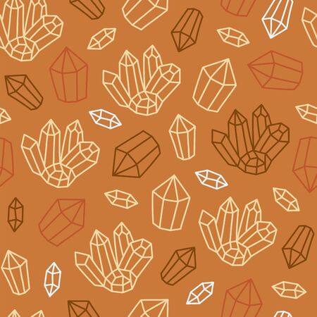 Seamless pattern with crystals.