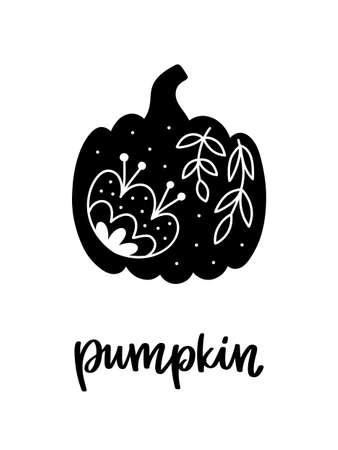 Vector card with pumpkin
