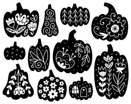 Vector pumpkins collection