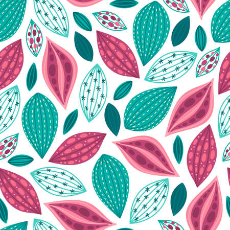 Vector background with different leaves
