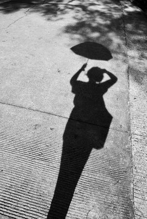 woman shadow: Shadow of a woman