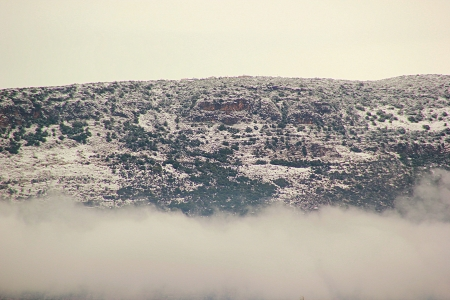 galilee: Galilee mountains in the snow