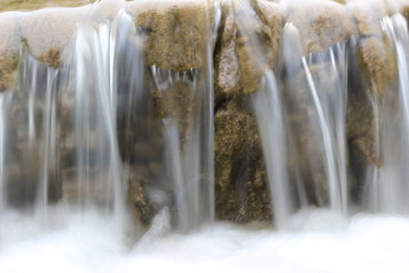 timelapse: close up of waterfall