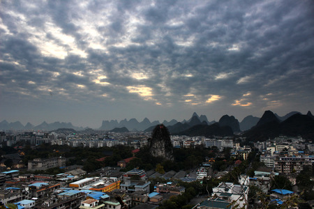 guilin: Guilin sunset Stock Photo