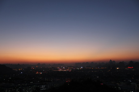 timelapse: Guilin Night Stock Photo