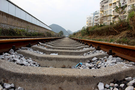 intersect: Rail Stock Photo