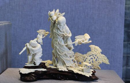 ivory: Ivory carving Stock Photo