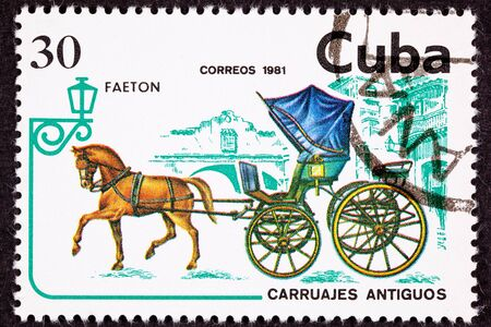 apparently: Horse Pulling Fancy Phaeton Carriage.  Apparently Phaetons were the two door coupes of the 1800s as its designed to be fast and showy, but is not very safe Stock Photo