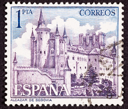 The Alcázar of Segovia (literally, Segovia Castle) is a stone fortification, located in the old city of Segovia, Spain. Rising out on a rocky crag above the confluence of the rivers Eresma and Clamores near the Guadarrama mountains, it is one of the most