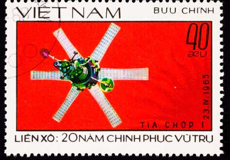 viet nam: Soviet  Molniya 1 telecommunications and television satellite launched April 23, 1965. Stock Photo