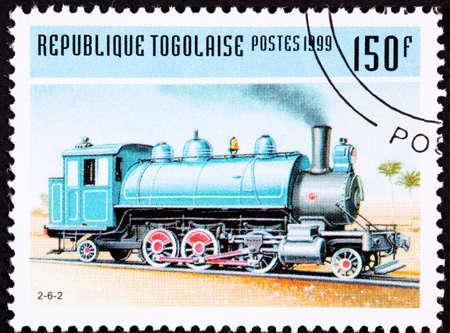 Old Railroad Steam Engine Locomotive made by  Baldwin. Stockfoto