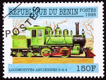 Alte Railroad Steam Engine Lokomotive vom Warrenton Standard-Bild - 9005239