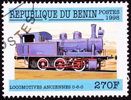 steam locomotive: Old style steam locomotive.