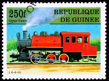 Old Railroad Steam Engine Locomotive.