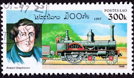 boiler: Robert Stephenson, son of George, was a pioneering steam locomotive designer. Long boiler style.