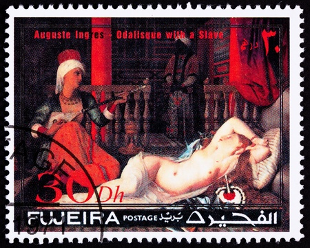 harem: Auguste Ingress, Odalisque with Slave.  An odalisque was a female assistant or apprentice to the concubines in an Ottoman harem.  Fujeria is one of the United Arab Emirates.
