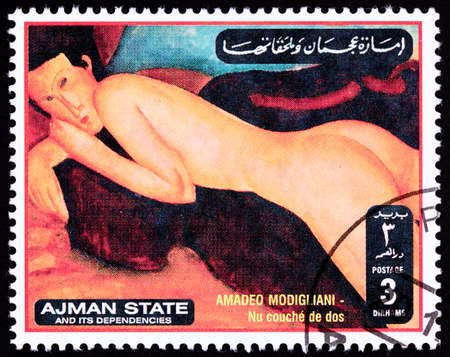 dos: Amadeo Modiglianis Nu Couches De Dos, Reclining Nude From the Back.    Ajman State is part of the United Arab Emirates.