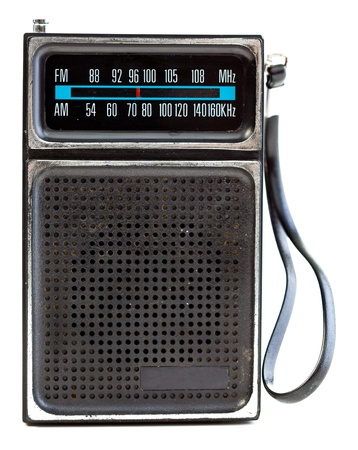 1960s era transistor radio isolated on a white background. photo