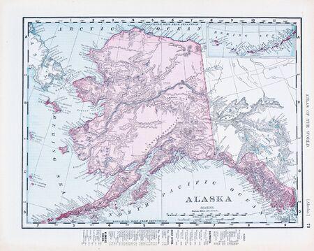 Alaska State Map Stock Photos Pictures Royalty Free Alaska - Alaska and us map