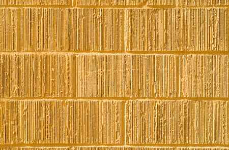 grooves: Yellow bricks with grooves in them. Stock Photo