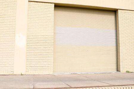 empty warehouse: Warehouse door and loading dock