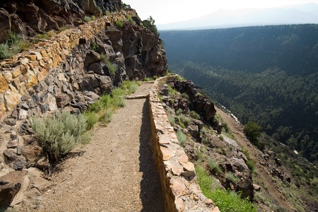 switchback: Hiking Path along the side of the Rio Grande River Gorge in New Mexico.  Part of Terminator Salvation was filmed here.