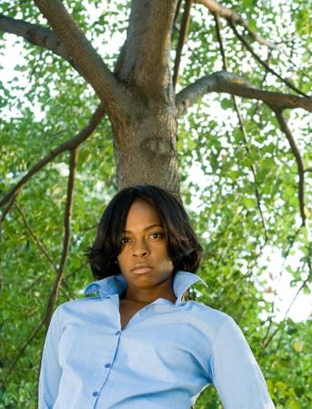 Pouting black woman. Stock Photo - 10961094
