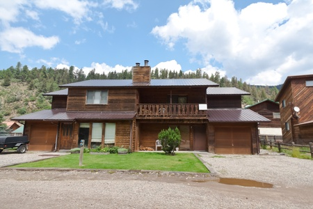 Ski house in Sangre de Cristo mountains east of Taos New Mexico. photo