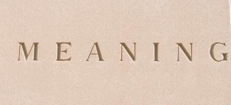 meaning: single word meaning carved in stone