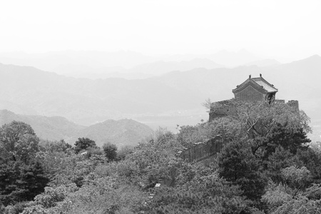 crenelation: Guard tower on the Mutianyu section of the Great Wall, near Beijing.