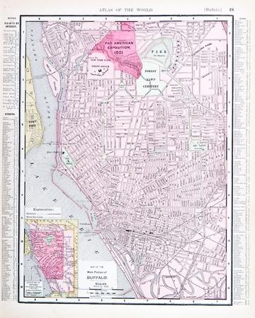Vintage Street Map Downtown Brooklyn New York NY Stock - Ny usa map