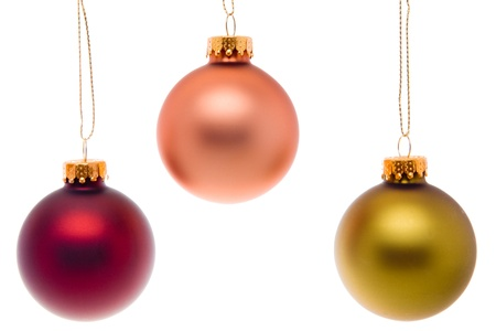 gold string: Christmas Balls
