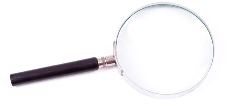 concave: Magnifying glass Stock Photo