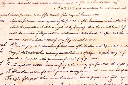 constitucion: En primer lugar la enmienda Constitución de los EE.UU.