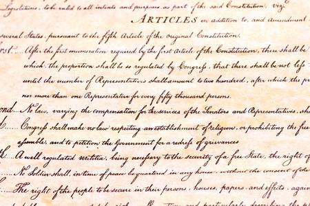 First amendment U.S. Constitution Éditoriale