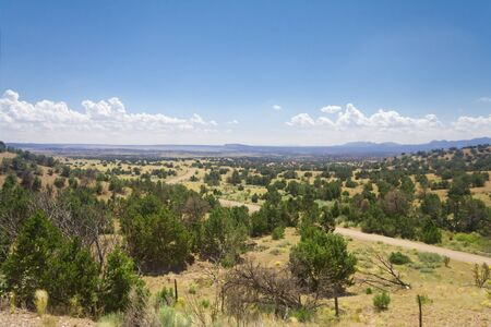 fe: High Desert South of Santa Fe, New Mexico Wide Angle lens.  This area was once an inland sea