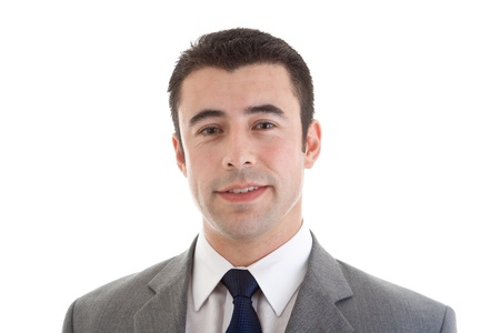 shot: Head shot of handsome Hispanic man