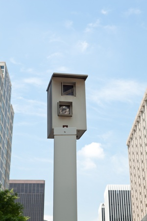 Traffic camera mounted on a post in downtown Rossyln Virginia, just outside Washington DC. photo